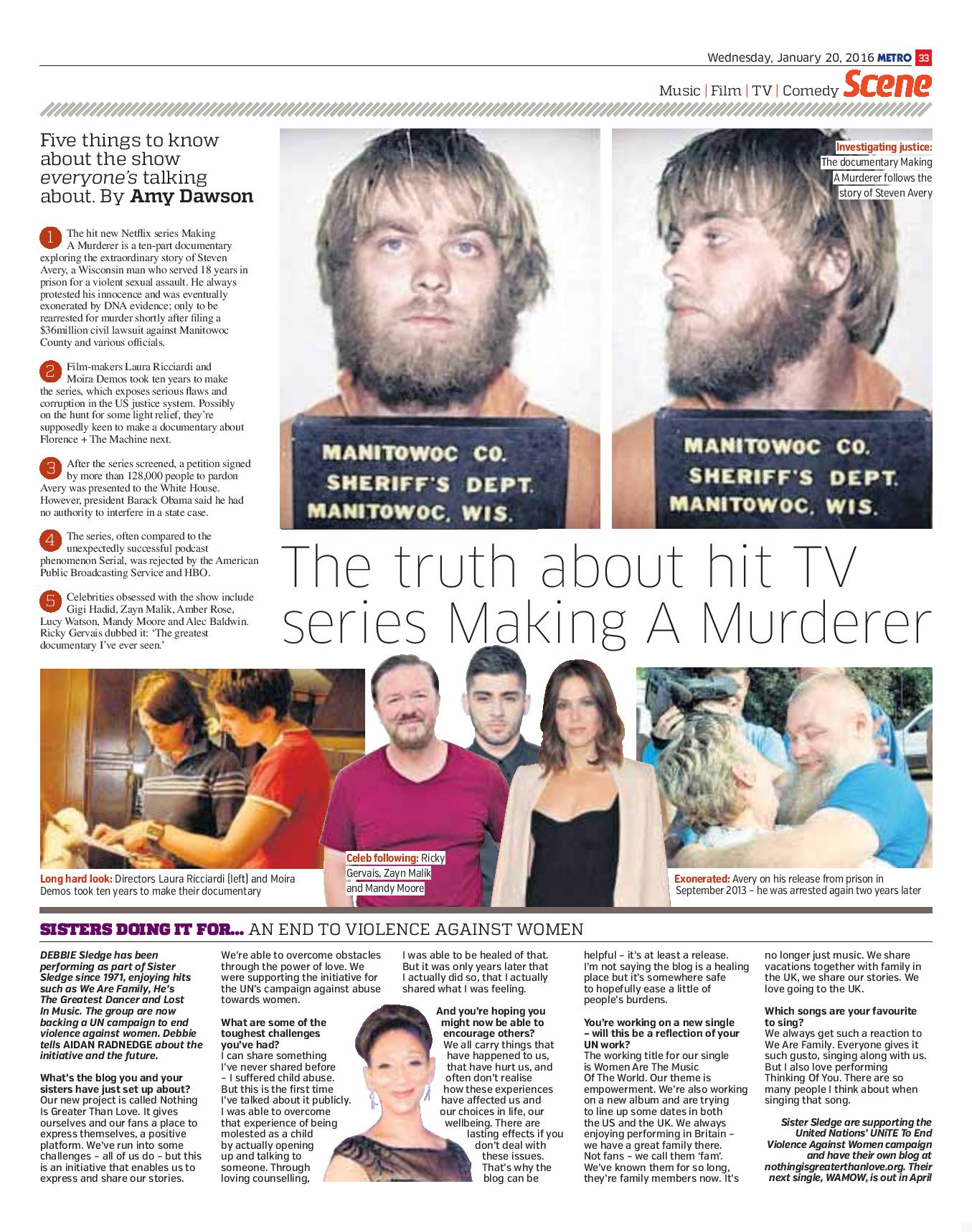 The truth about hit TV series Making A Murderer (Metro, 20th Jan 2016)