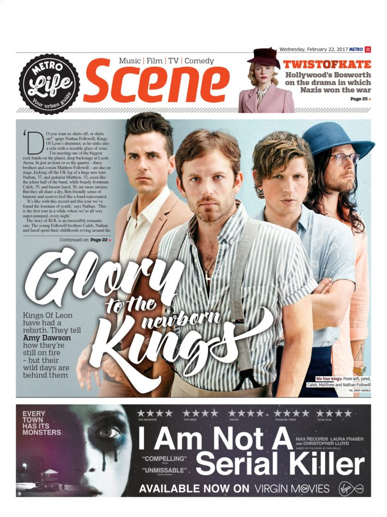 Glory To The New-Born Kings: An Interview With Kings of Leon (Metro