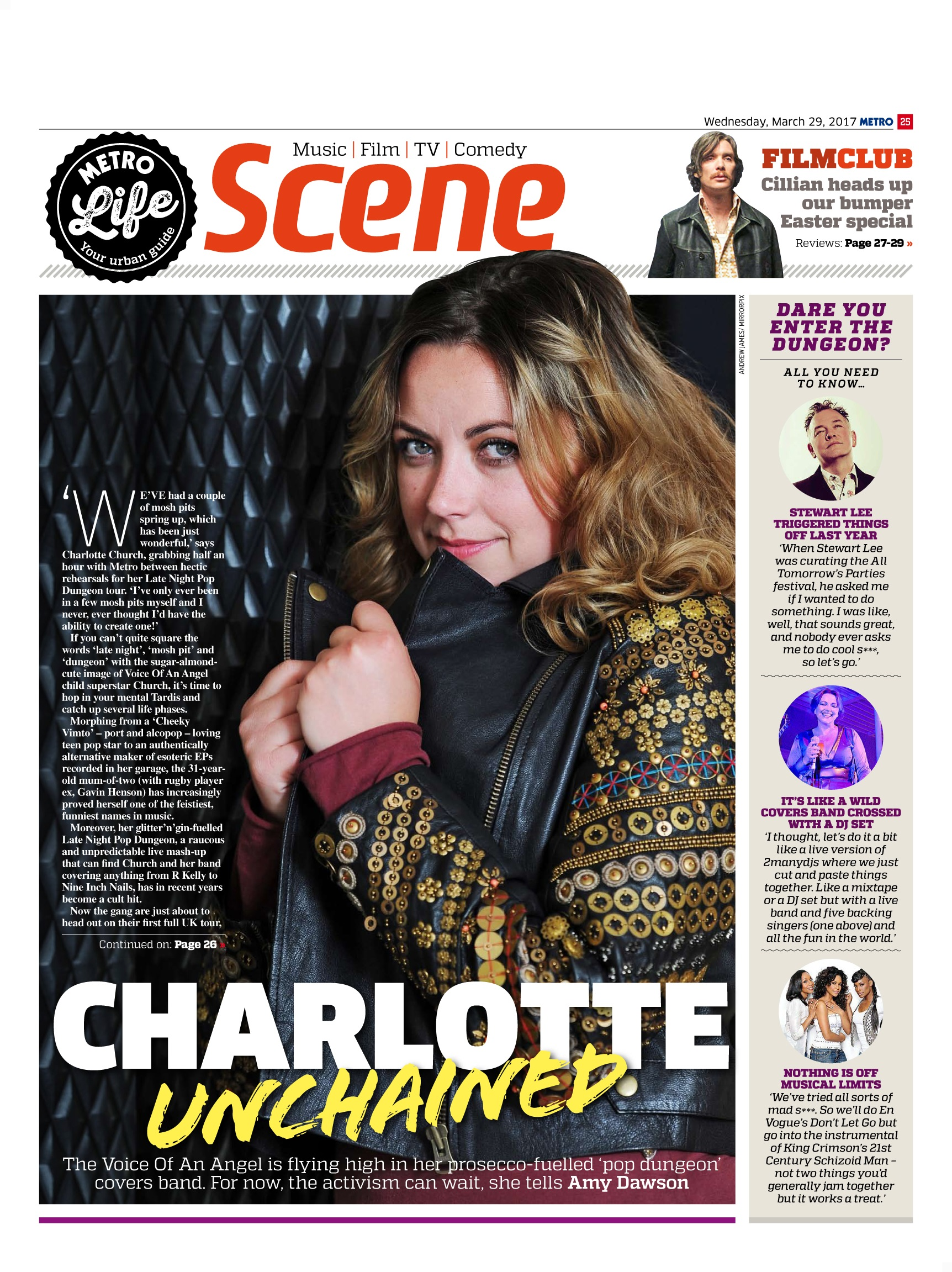 Charlotte Church: Unchained (Metro, 29th Mar 2017)