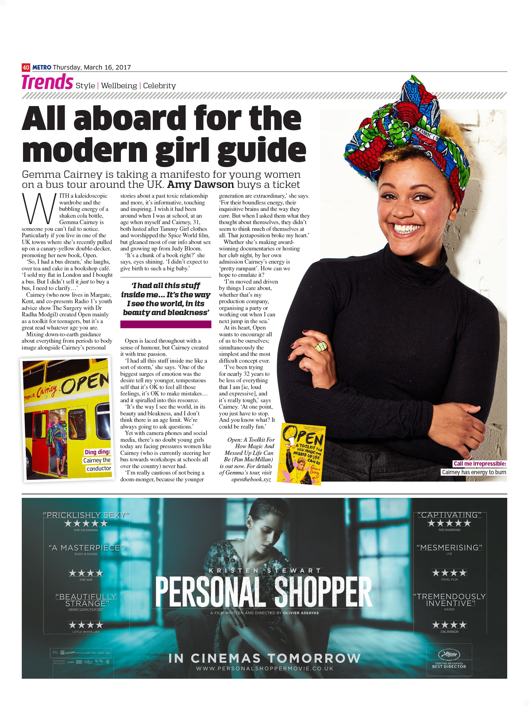 All Aboard For The Modern Girl Guide (Metro, 16th Mar 2017)