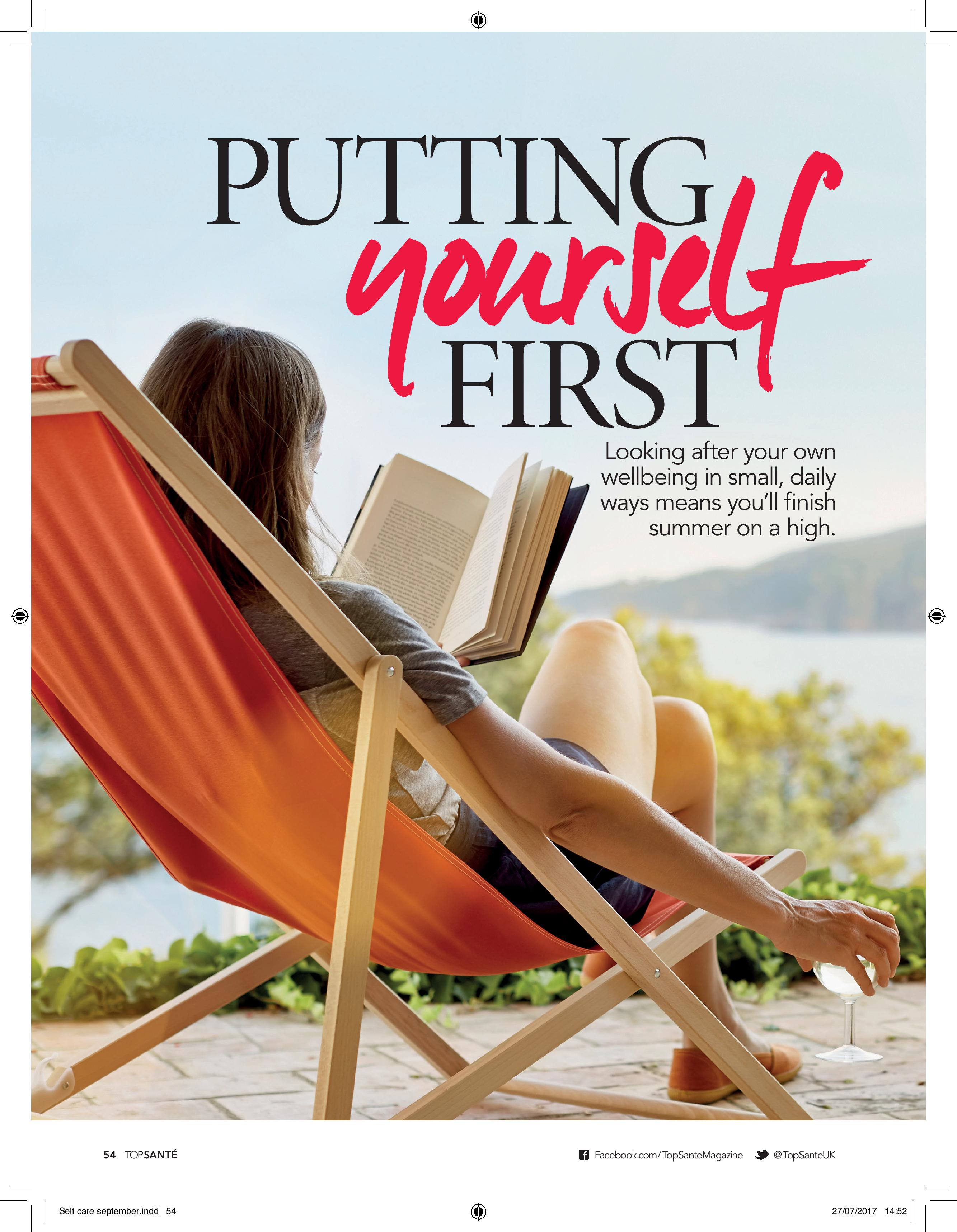 Putting Yourself First (Top Sante, Aug 2017)