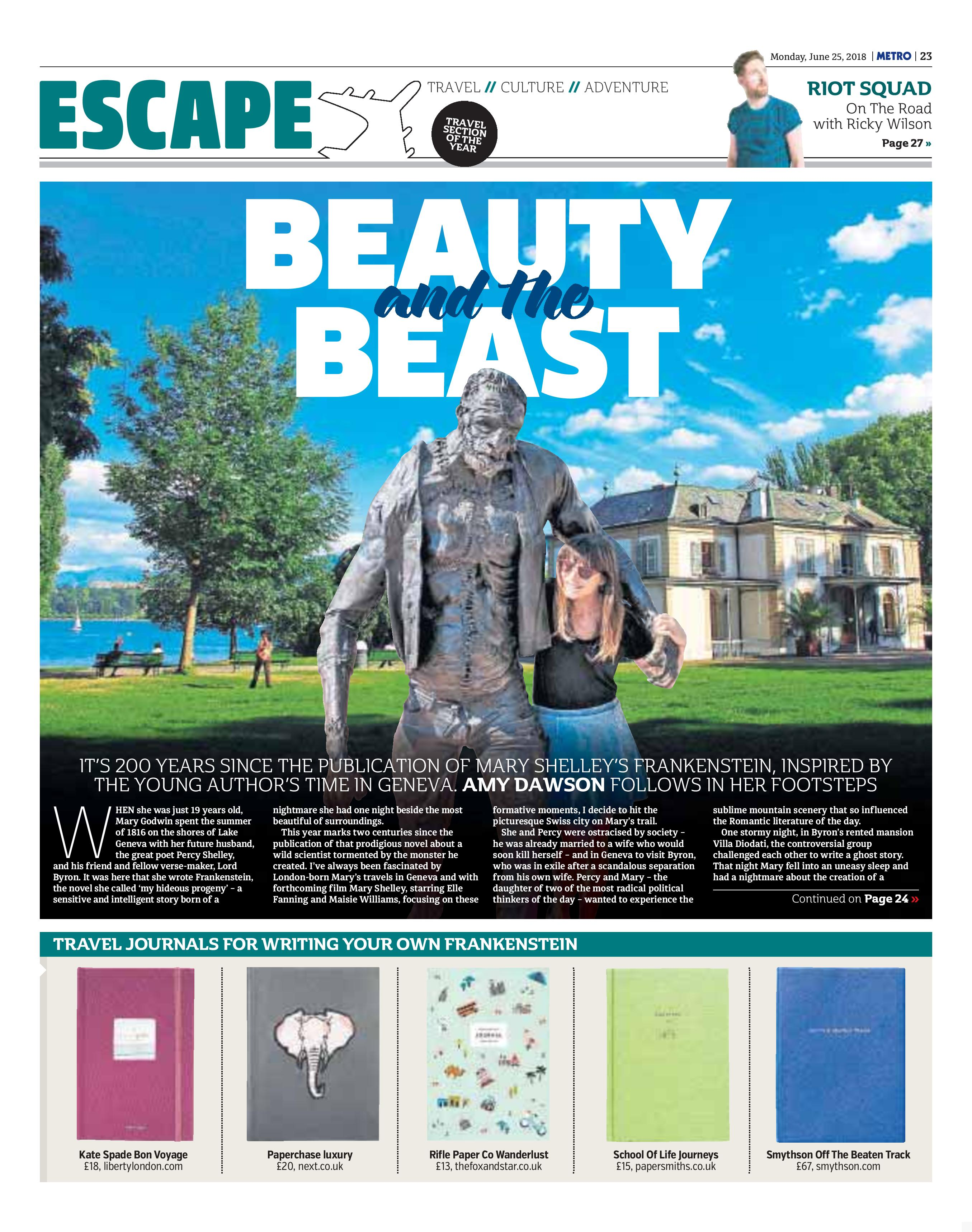 Escape: Beauty and the Beast (Metro, 25th Jun 2018)