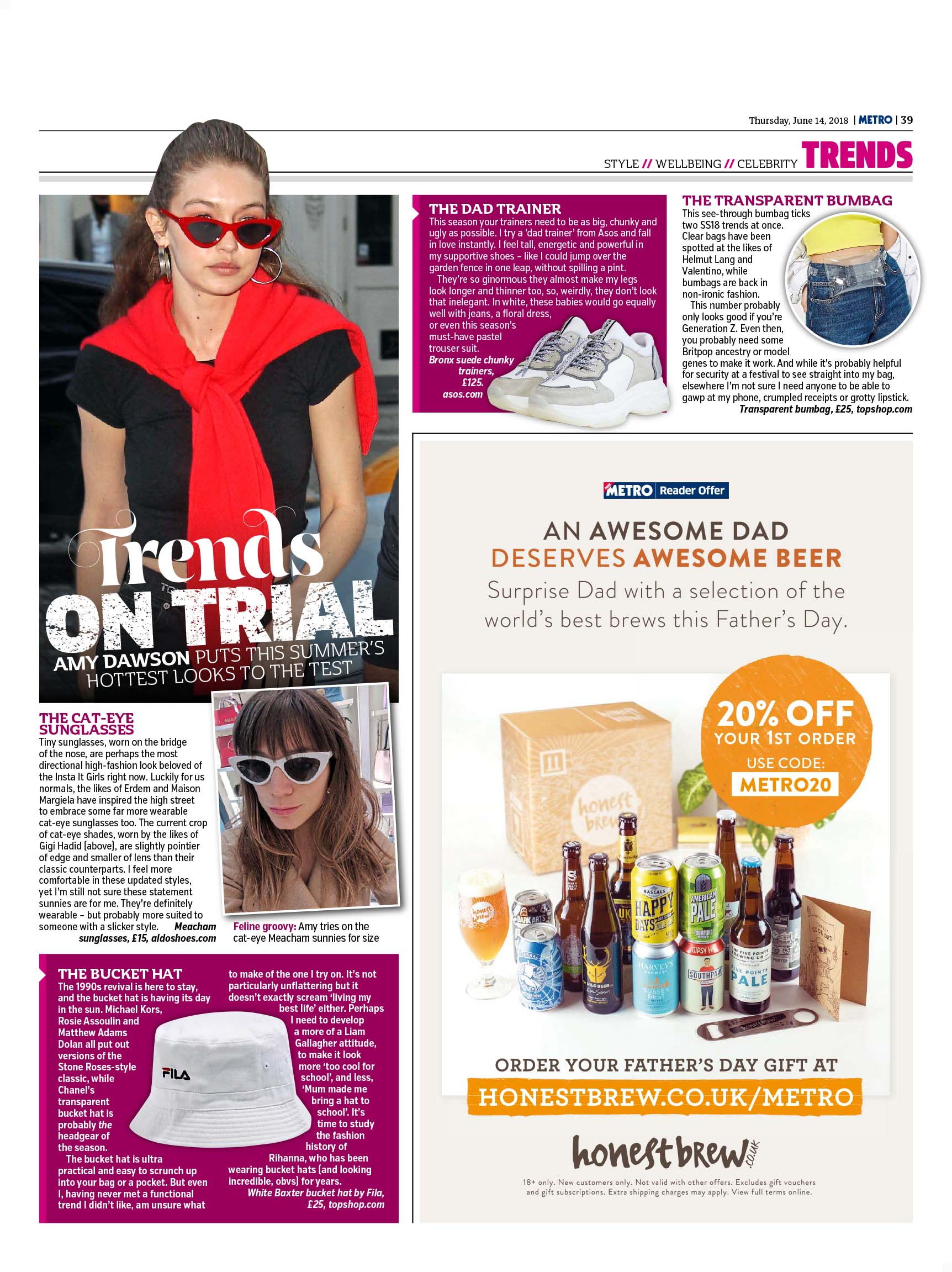 Trends On Trial (Metro, 14th Jun 2018)