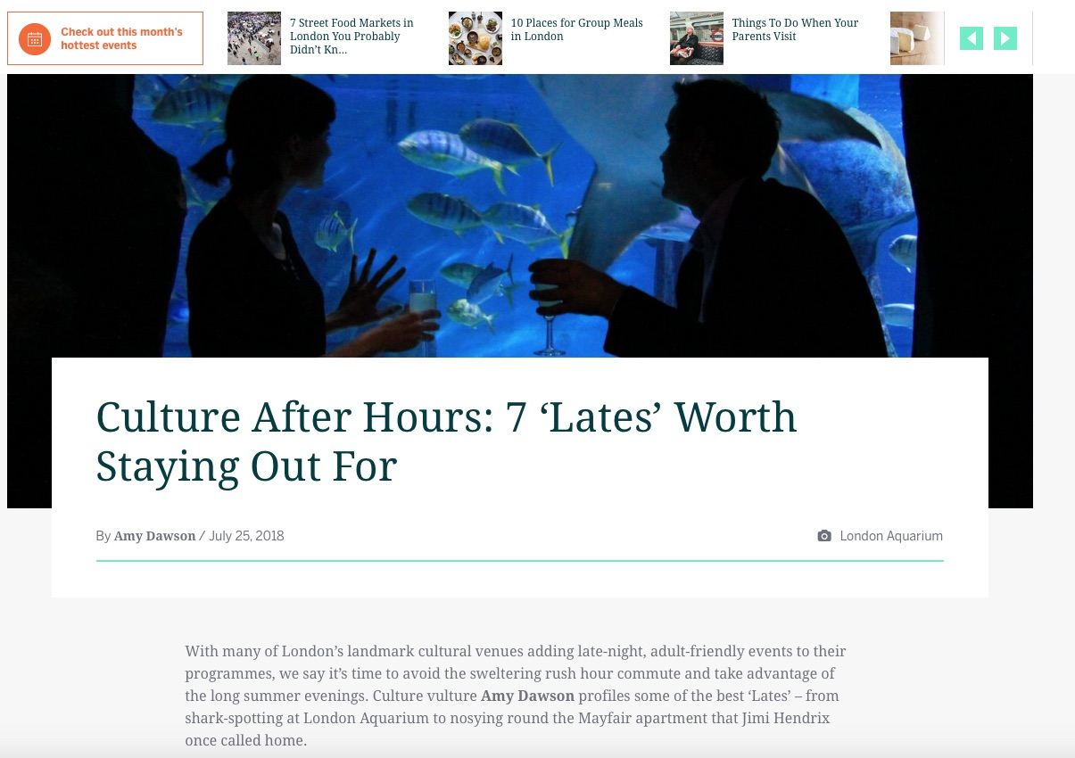 Culture After Hours: 7 'Lates' Worth Staying Out For (Eventbrite, 25th Jul 2018)