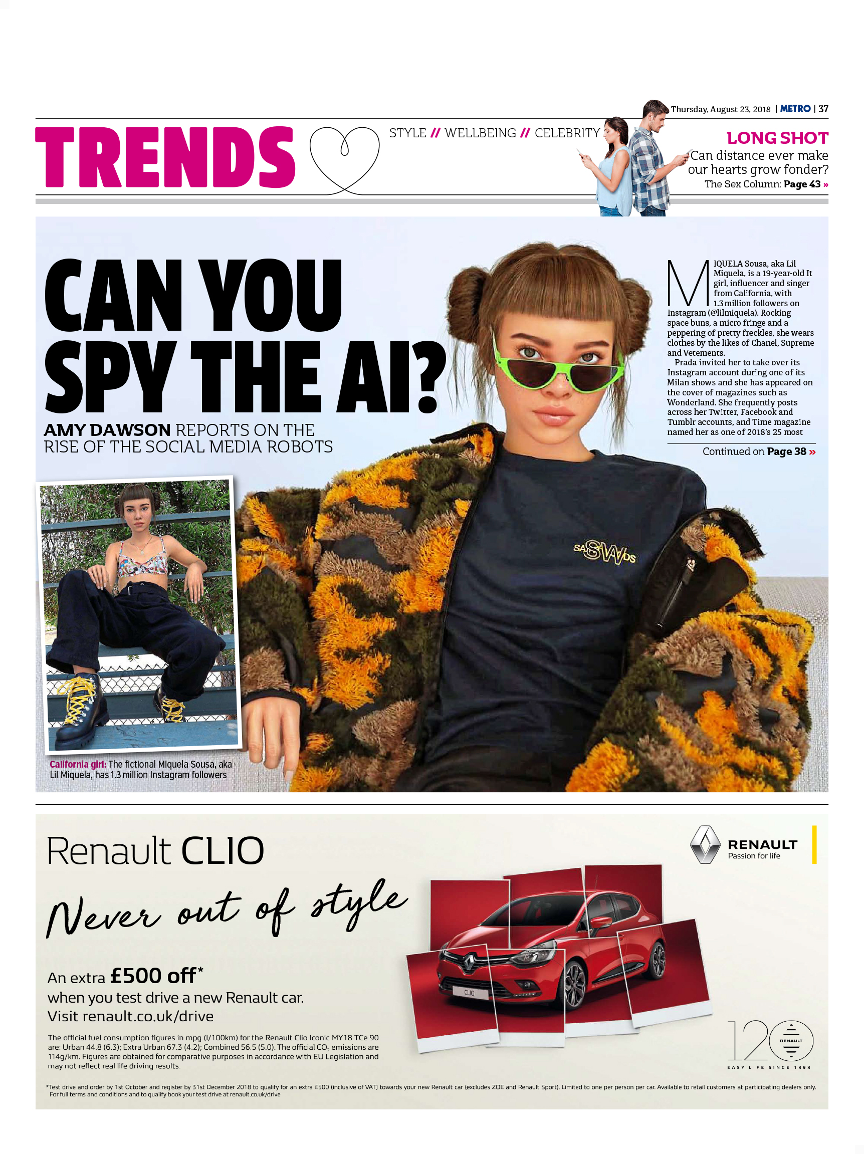Can You Spy The AI? (Metro, 23rd Aug 2018)