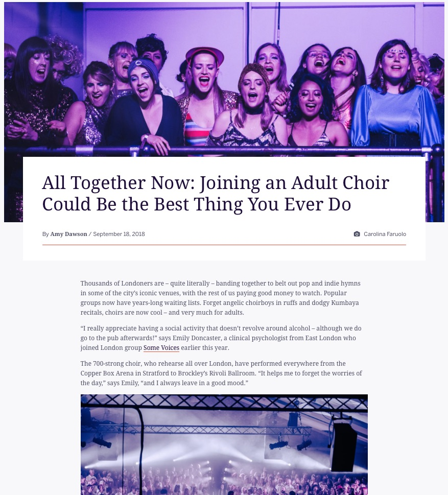 All Together Now: Joining an Adult Choir Could Be the Best Thing You Ever Do (Eventbrite, 18th September 2018)