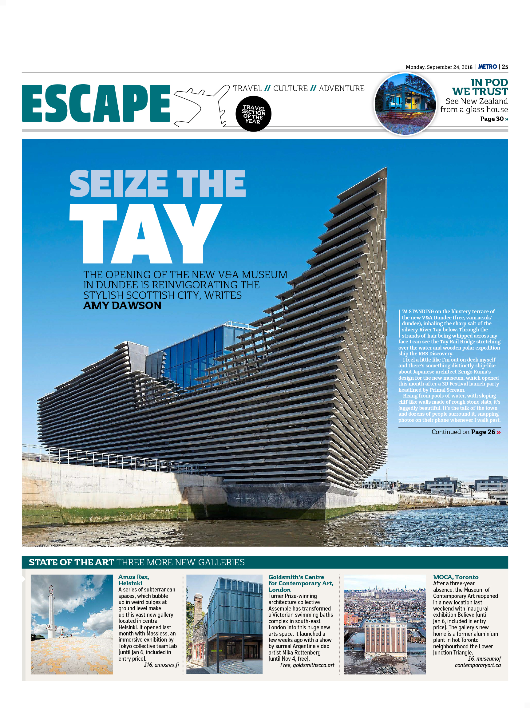 Seize the Tay (Metro, 24th September 2018)