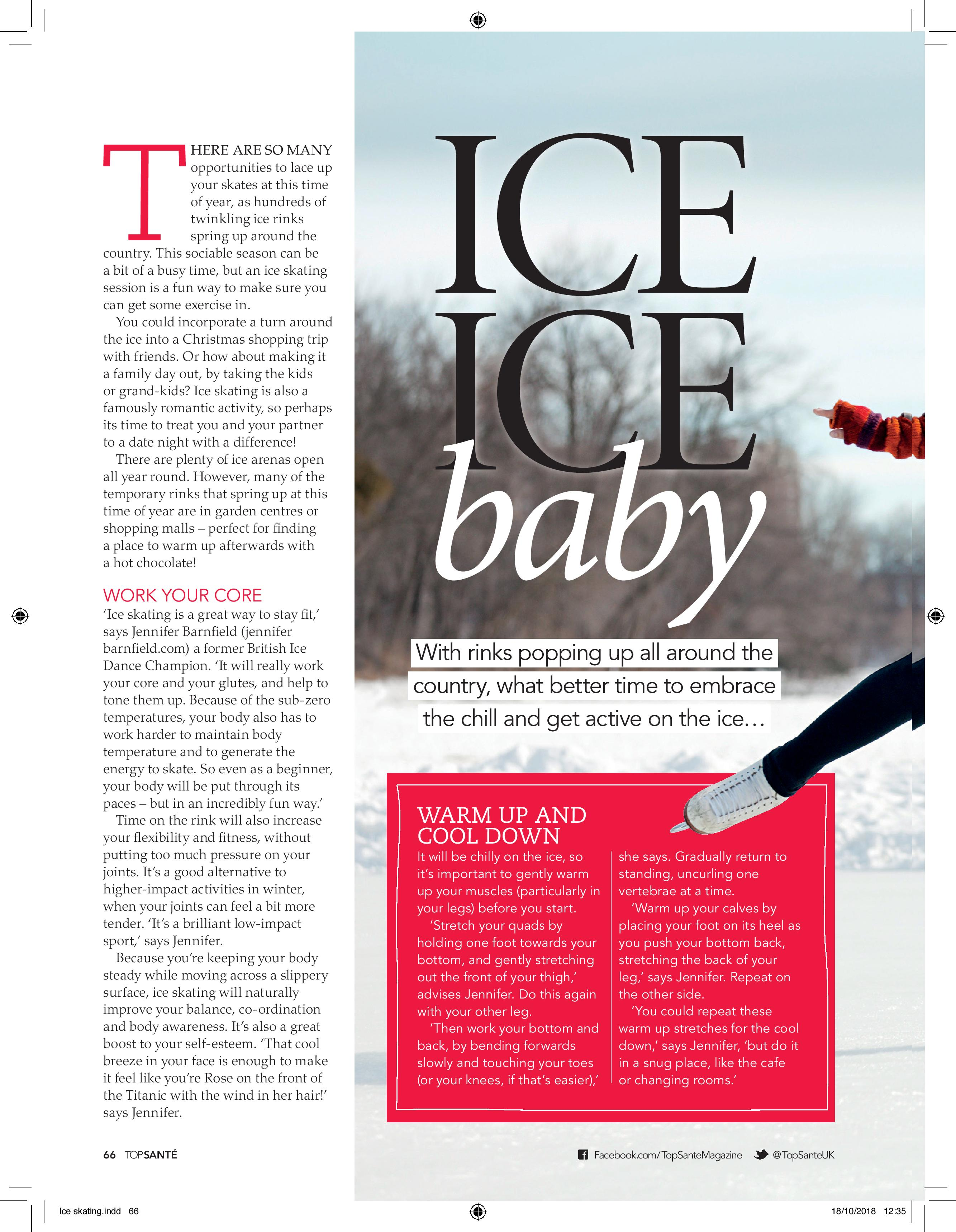 Ice, Ice Baby (Top Sante, 30th Oct 2018)