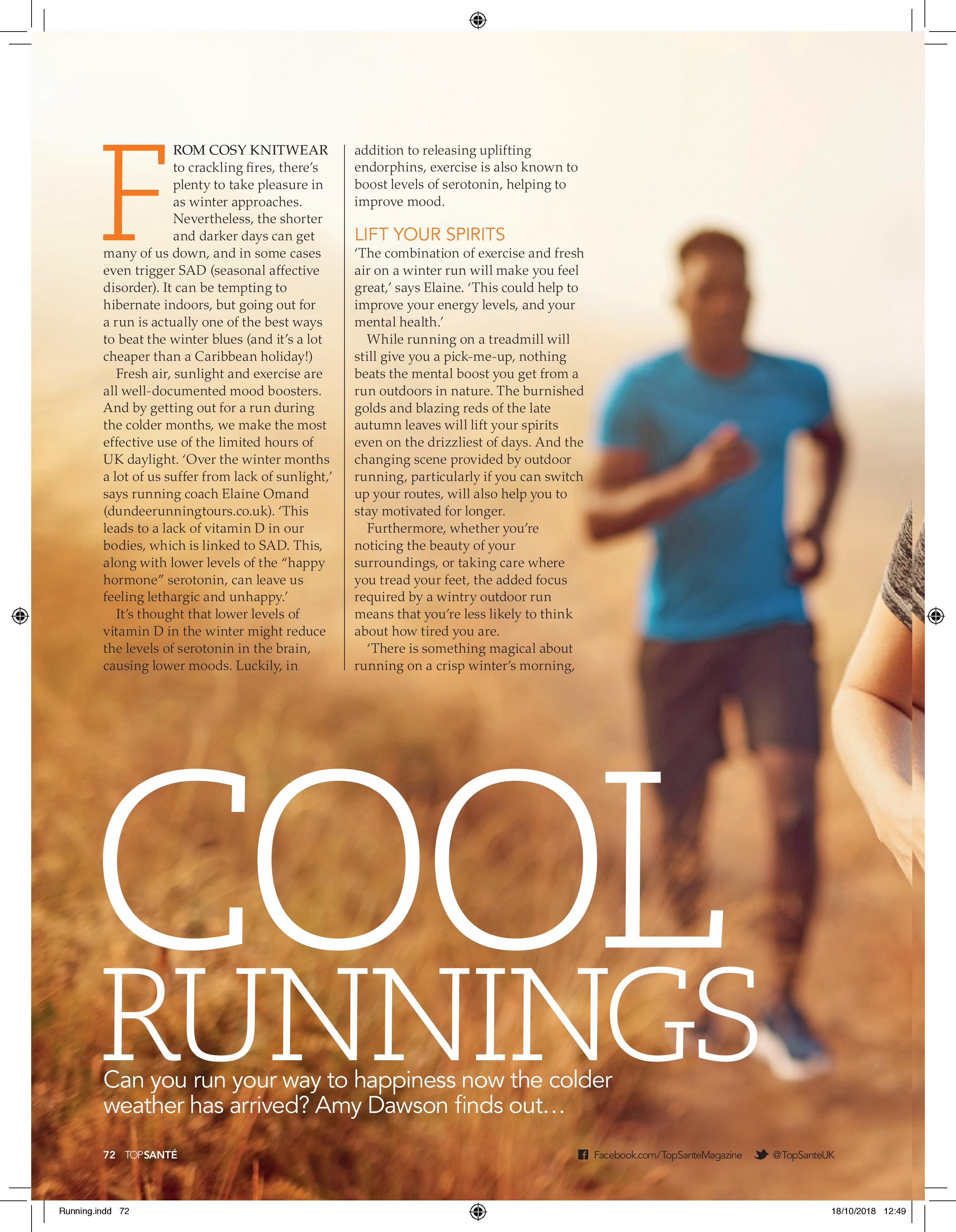 Cool Runnings (Top Sante, 30th Oct 2018)